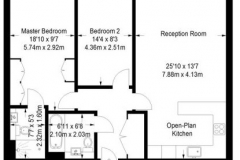 18 floor plan Colindale serviced apartment 60