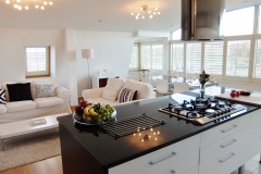 13 kitchen living dining Hampton Court 3 bed penthouse