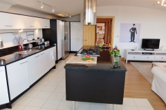 14 kitchen living hall Hampton Court 3 bed penthouse