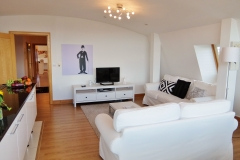 7 living area and hall Hampton Court 3 bed penthouse