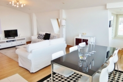 1 living & dining areas Hampton Court 3 bed penthouse