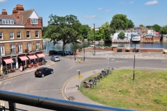 9 Hampton Court two bed balcony view river