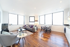 4 living and kitchen areas Harrow serviced apartments