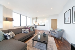 1 living area kitchen Harrow serviced apartments