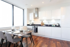 3 kitchen with dining table Harrow serviced apartments