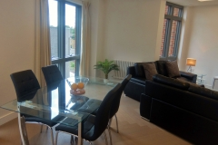 8 dining table and sofas 2 bed Twickenham Wharf 54