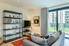 2 living  area & balcony Wembley Park 3 bed